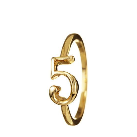 5 ring. my fav. number. need this in silver