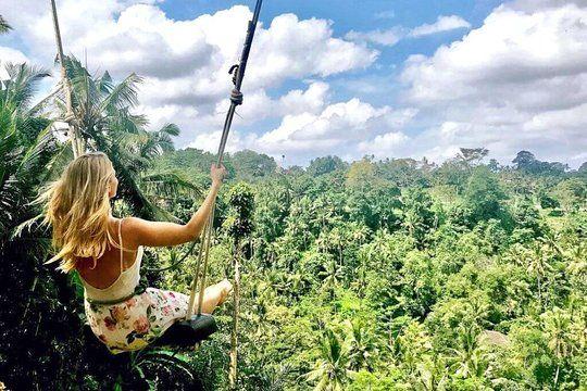 Ubud White Water Rafting Rice Terrace And Jungle Swing
