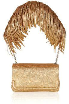 CHRISTIAN LOUBOUTIN  Artemis fringed textured-leather shoulder bag  £750