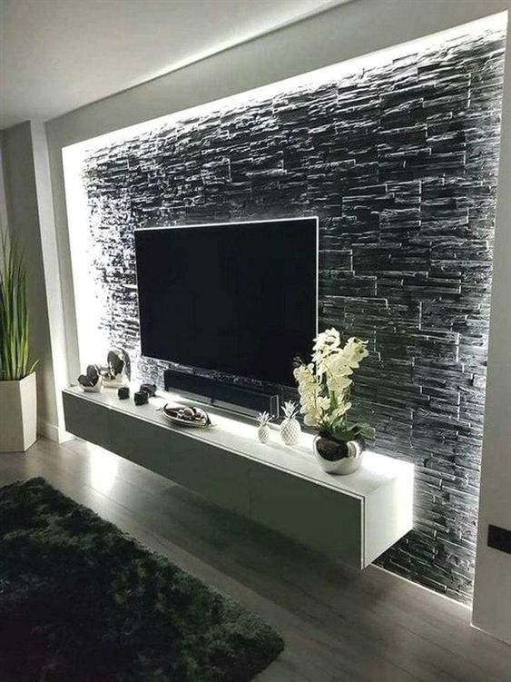 Top 10 Trending Wall Design Ideas For Living Room On Pinterest 2020 Minimalist Living Room Modern Kitchen Design Modern Apartment Living Room