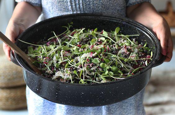 Minty Black Bean Salad  My New Roots