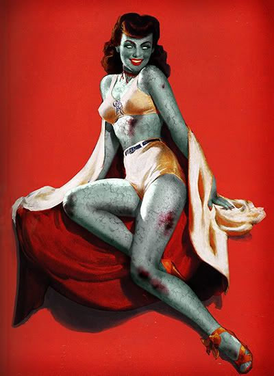 zombie pin up chick....can't help that i like zombie things!