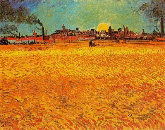 Vincent van Gogh, Trigal a la puesta de sol, 1888. Óleo sobre lienzo. 73.5 x 92 cm. Kunstmuseum Winterhur. Winterhur. Suiza.