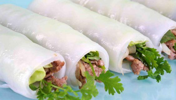 Nem cuon in Wrap 'n Roll restaurant in Ho Chi Minh city