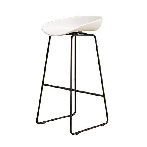 Nordic Bar Chair Black Iron Art Leg Bar Stool Modern Simple White