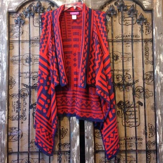 Say What Uneven Asymmetrical Tribal Lightweight Boho Lagenlook Vest Small #SayWhat