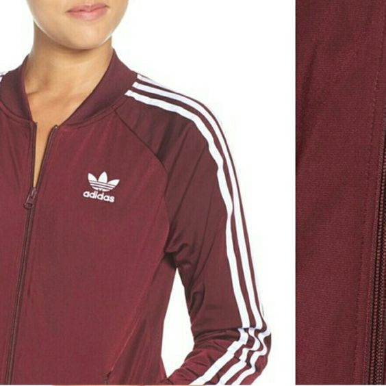 Adidas Jacket Details & Care Sporty and classic with adidas' trefoil logo, 3-stripes and stretchy branded band. Front zip closure Ribbed cuffs Front zip pockets Lined 100% polyester Machine wash warm, tumble dry low Imported Women's Active & Swim Activewear Glossary Adidas Other