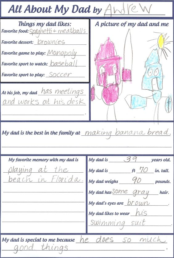 Fathers Day questionaire