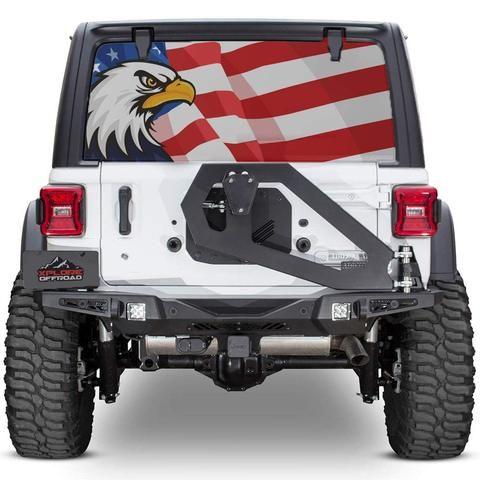 Xplore Offroad Jeep Wrangler American Flag Rear Window Tint Decal Jeep Wrangler Jeep Rear Window