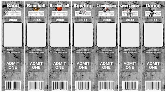 Game Day Tickets Template Options Con Sue Photography \ Design - dance ticket template