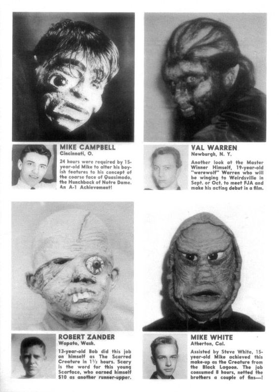 Famous Monsters makeup contest