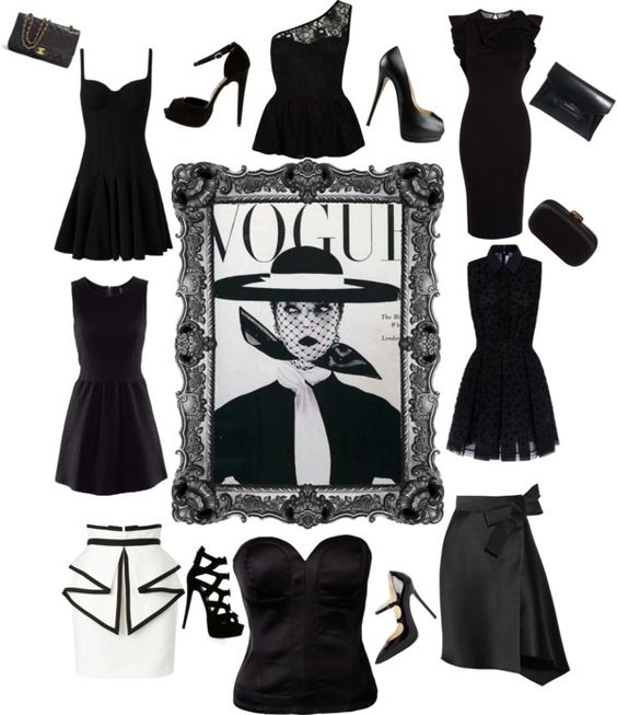 """""""lady black"""" by makeupcolours ❤ liked on Polyvore"""