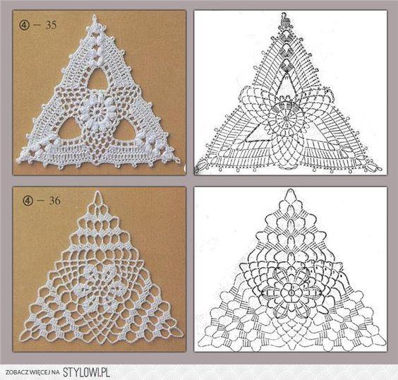 trójkaty na szydełku - Szukaj w Google