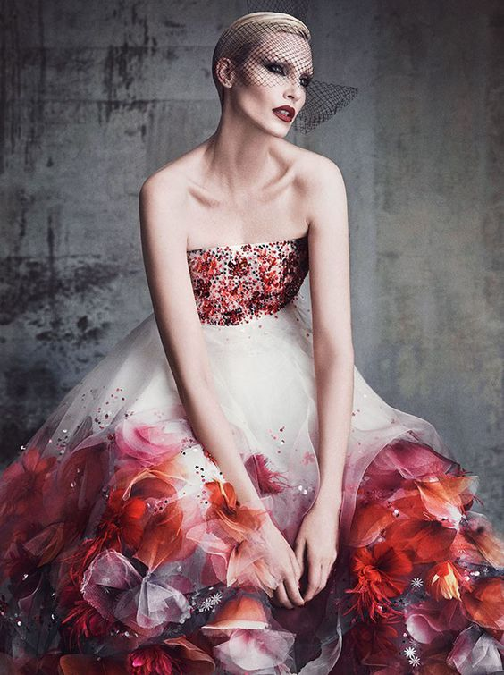 'Couture Showing' Nadja Auermann by Luigi & Iango for Vanity Fair France June 2015 - CHANEL Spring 2015 Haute Couture