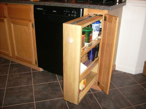 Diy Slide Out Spice Rack My Version Of One Of Those