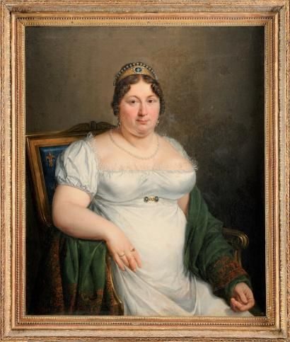 Portrait of Marie Josephine of Savoy, the Comtesse de Provence, wife of Louis XVIII, attributed to Marie-Eleonore Godefroid. This portrait, done sometime during the French royal family's exile and before her death in November 1810.