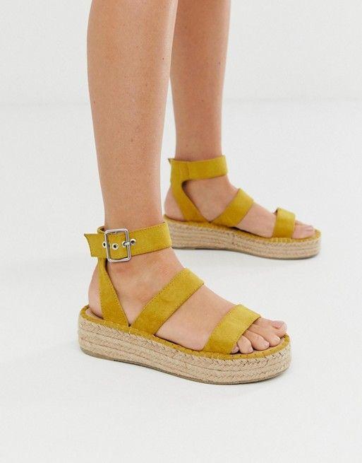 RAID Bellini yellow espadrille sandals