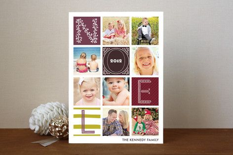 Quilted Holiday Photo Cards  love this