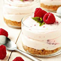 No Bake Raspberry-Lemon Cheesecake by My Baking Addiction