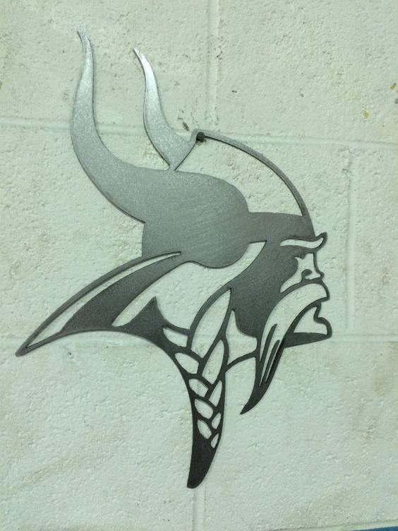 Minnesota Vikings steel metal wall art | Steel Metal, Minnesota ...