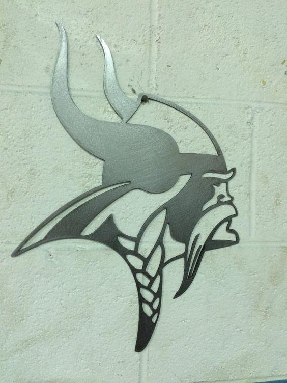 Minnesota Vikings steel metal wall art | Steel Metal, Minnesota ...