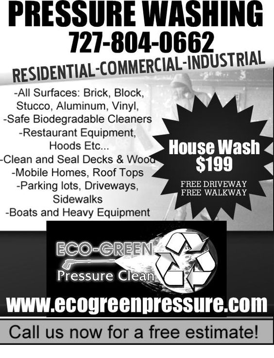 Pressure Washing Flyers Ecogreenpressure Flyer 1 From