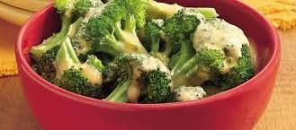 Broccoli With Cheese Sauce   Food.com A little too salty and I like salt...next time use perhaps 1/4 tsp