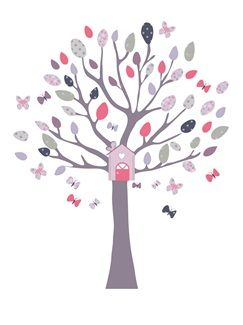 Stickers arbre avec nichoir th me boat park vertbaudet enfant sticker b b fille pinterest for Catalogue vertbaudet chambre bebe