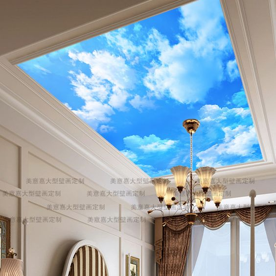 Pinterest the world s catalog of ideas for Ceiling sky mural