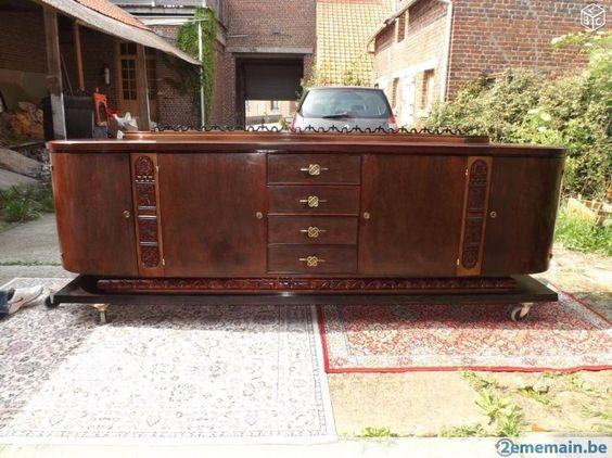 Sideboard dressoir orientaliste De Coene art deco 25 30 - A vendre
