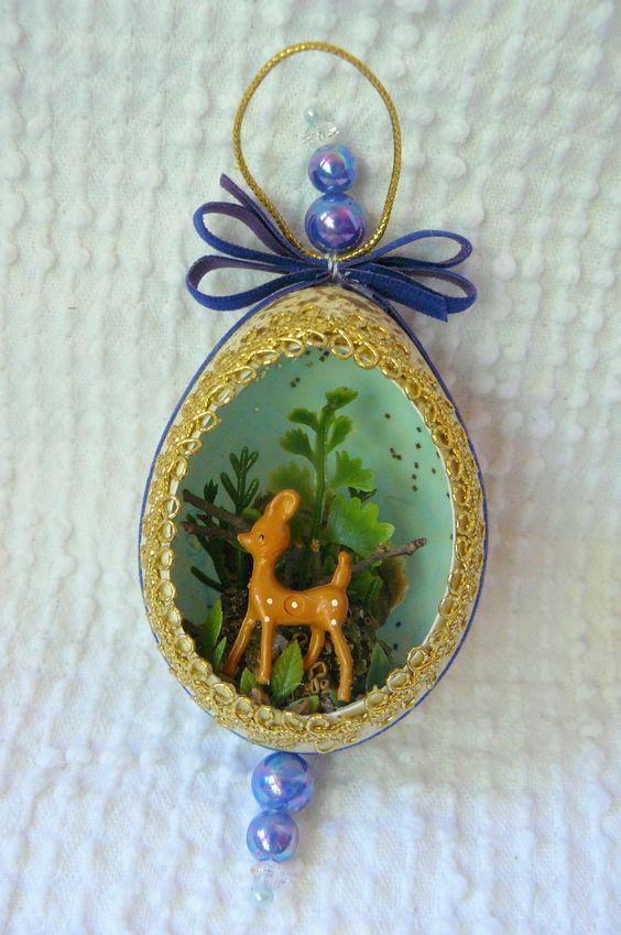 Vintage Deer Panoramic Ornament- retro kitschy goodness. 5.00, via Etsy. @ Courtney Klein