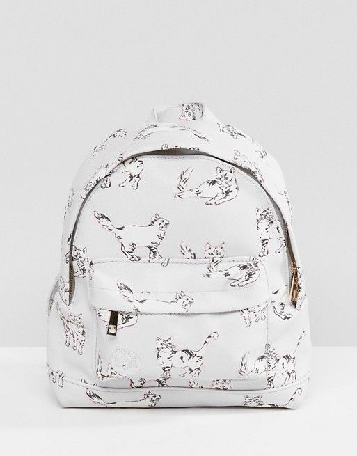 Mi-Pac Mini Cats Backpack In Grey