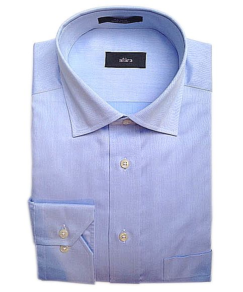 ALARA LIGHT BLUE HERRINGBONE EGYPTIAN COTTON SHIRT'. #alara #cloth #dress shirts