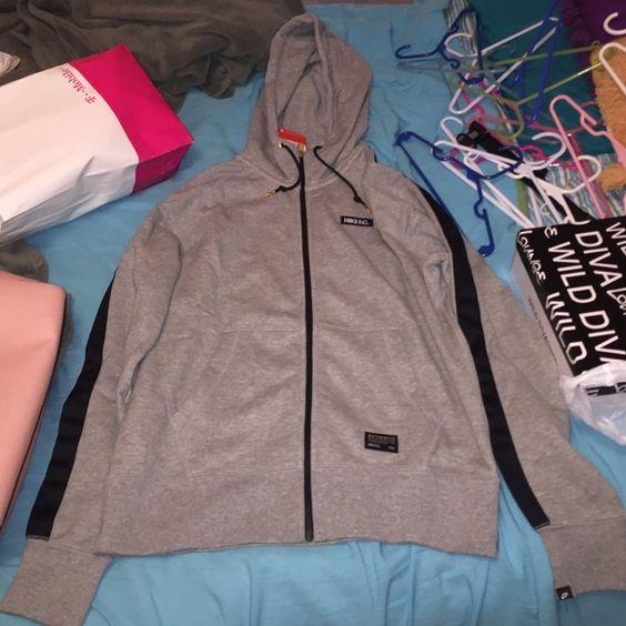 Nike F.C zip up hoodie Gray zip up hoodie , size M Nike Sweaters Crew & Scoop Necks