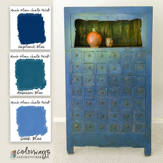 Dark Blue Chalk Paint Kitchen Cabinets: Cabinets, Black And Blue And Apothecaries On Pinterest