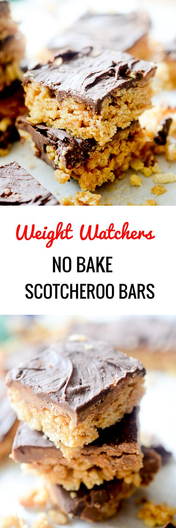 Weight Watchers No Bake Scotcheroo Bars - Recipe Diaries