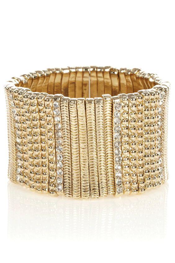 Oasis Jewellery | Crystal Pave Stick Bracelet