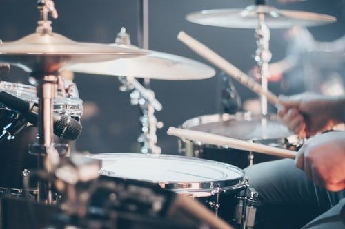 Person Playing Drums Drums Best Drums Acoustic Drum Set