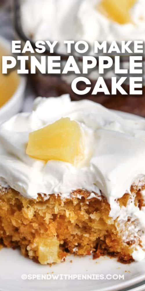 An Old Fashioned Homemade Pineapple Cake Needs Just 5 Ingredients And 5 Minutes Prep Easy No Bake Desserts Cake Recipes Delicious Desserts