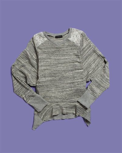 """""""Darling"""" heather grey pullover perfect for tweens"""