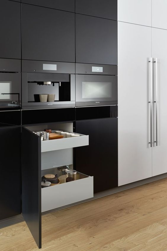 Küchenschrank, Bild Mit Auszügen, Intelligente Lösung, Schrank, Ordnung,  Schublade, Gewürze, Schranksystem Foto: Leicht Küchen | Küche | Pinterest |  Mixers