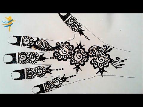رسم بالحناء على الورق من سلسلة دروس تعليم النقش بالحناء للمبتدئات نتمنى يكون الدرس في المستوى المطلوب دعم Henna Hand Tattoo Simple Mehndi Designs Mehndi Simple