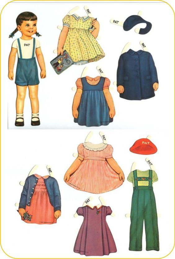 bonecas de papel vintage - Pesquisa Google