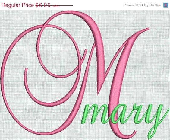 Embroidery machine fonts designs alphabet fancy script jef