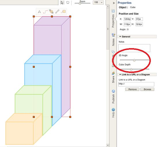 Draw 3d Object Online Using Creately Diagram Tools Easily