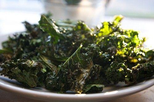 Baked kale chips #kale