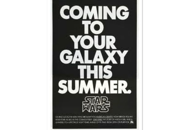 http://io9.com/watch-the-original-trailer-that-introduced-star-wars-to-1444365590  In anticipation for the new Disney released the original Star Wars trailer from 1976. Imagine never having heard of Star Wars, then seeing this!