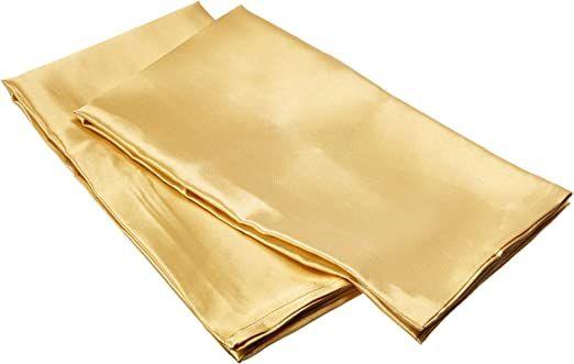 Morning Glamour 2 Pack Signature Box Pillowcases Gold In 2020 Best Silk Pillowcase Satin Pillowcase Silk Pillowcase Hair