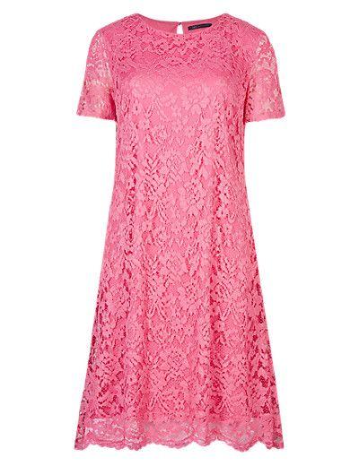 Floral Lace A-Line Shift Dress | M&S