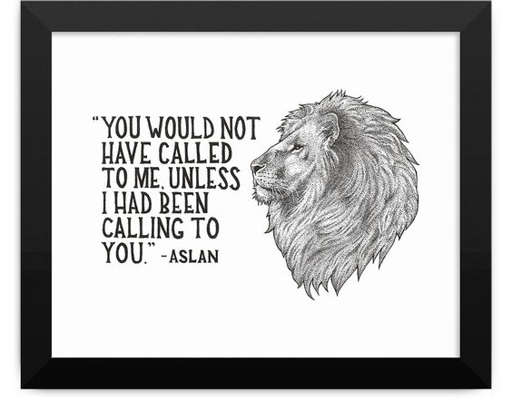 Aslan Art Print Framed
